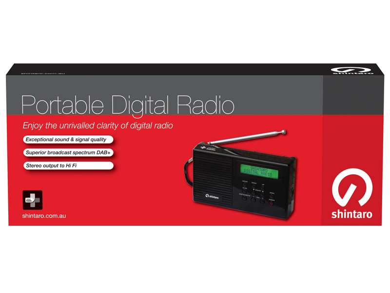 Shintaro Digital Radio DAB+ with FM Tuner Model: SHDRBLK