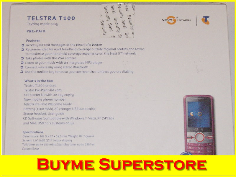 TELSTRA TURBO NEXT G WIRELESS BROADBAND + T100 MOBILE PHONE